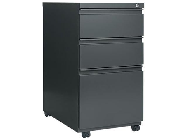 Alera PB53-2823CH (ALEPB532823CH) Three-Drawer Mobile Pedestal File With Full-Length Pull, 15-7/8w x 23d, Charcoal