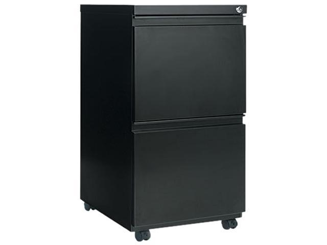 Alera PB54-2819BL (ALEPB542819BL) Two-Drawer Mobile Pedestal File With Full-Length Pull, 15-7/8w x 19-1/4d, Black
