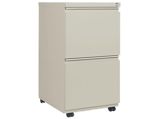 Alera PB54-2819PY (ALEPB542819PY) Two-Drawer Mobile Pedestal File With Full-Length Pull, 15-7/8w x 19-1/4d, Putty