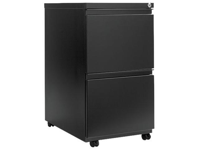 Alera PB54-2823BL (ALEPB542823BL) Two-Drawer Mobile Pedestal File With Full-Length Pull, 15-7/8w x 23d, Black