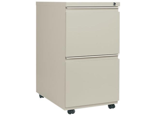 Alera PB54-2823PY (ALEPB542823PY) Two-Drawer Mobile Pedestal File With Full-Length Pull, 15-7/8w x 23d, Putty