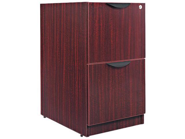 Alera VA54-2822MY (ALEVA542822MY) Valencia File/File Drawer Full Pedestal, 15-5/8w x 22-7/82d x 28-1/2h, Mahogany