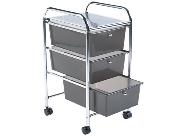 Advantus 34006 Portable Drawer Organizer, 15-1/2w x 13d x 27h, Chrome/Smoke
