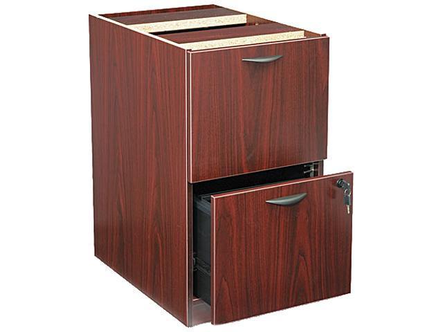 basyx BL2163NN BL Laminate Two-Drawer Pedestal File, 15-5/8w x 21-3/4d x 27-3/4h, Mahogany