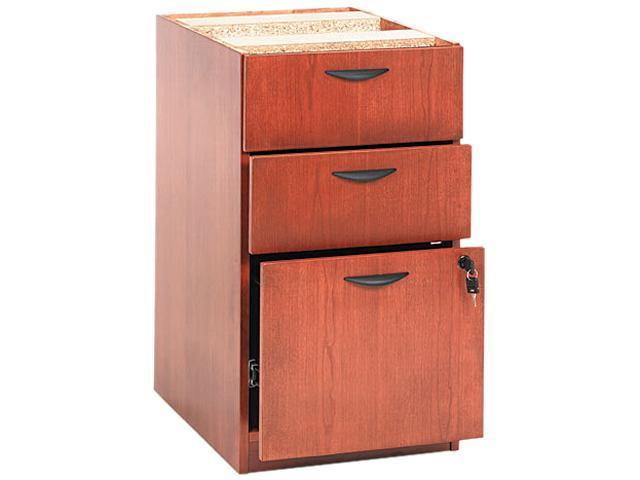 basyx BW2162HH BW Veneer Box/Box/File Pedestal File, 15-5/8w x 22d x 27-3/4h, Bourbon Cherry