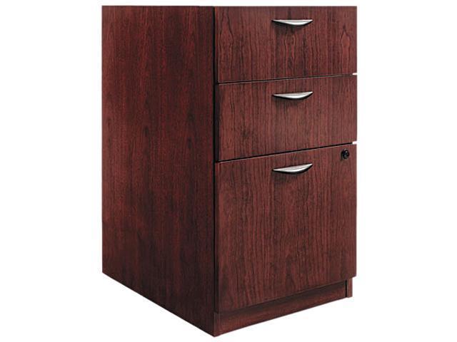 basyx BW2162NN BW Veneer Series Box/Box/File Pedestal File, 15-5/8w x 22d x 27-3/4h, Mahogany