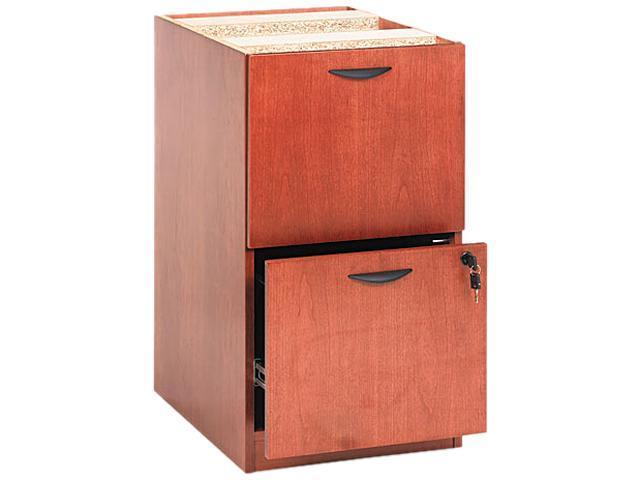 basyx BW2163HH BW Veneer Series File/File Pedestal File, 15-5/8 x 22 x 27-3/4, Bourbon Cherry