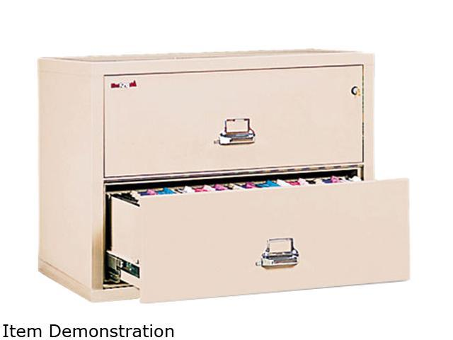 FireKing 23122CPA 2-Drawer Lateral File, 31-1/8w x 22-1/8d, UL Listed 350°, Ltr/Legal, Parchment