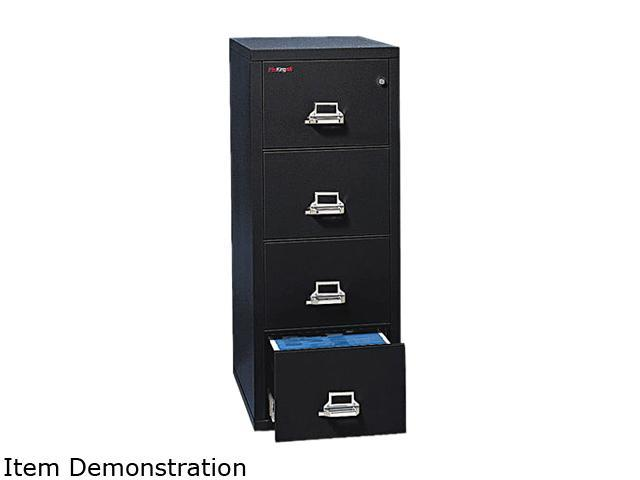 FireKing 41825CBL 4-Drawer Vertical File, 17-3/4w x 25d, UL Listed 350° for Fire, Letter, Black