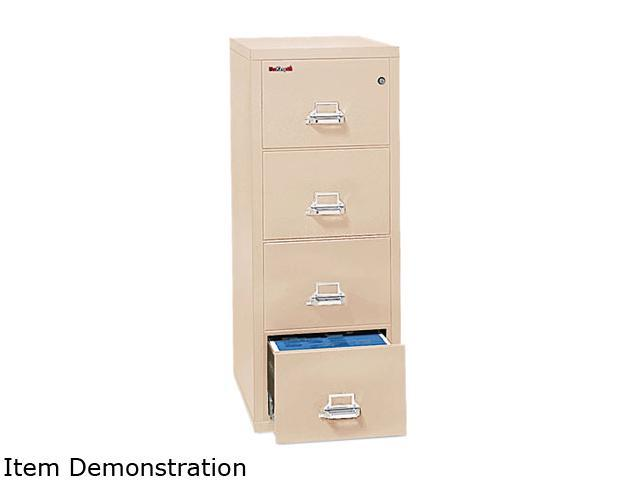 FireKing 41825CPA 4-Drawer Vertical File, 17-3/4w x 25d, UL Listed 350°, Letter, Parchment