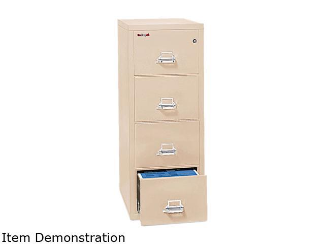FireKing 41831CPA 4-Drawer Vertical File, 17-3/4w x 31-9/16d, UL 350° for Fire, Letter, Parchment