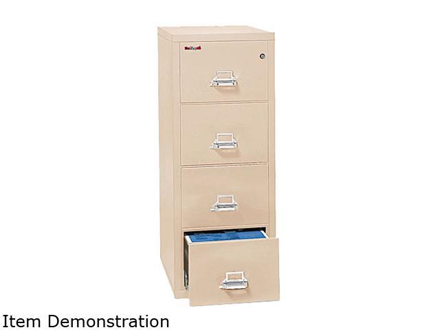 FireKing 42131CPA 4-Drawer Vertical File, 20-13/16w x 31-9/16d, UL 350° for Fire, Ltr, Parchment