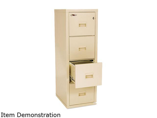 FireKing 4R1822CPA Turtle 4-Drawer File, 17-3/4w x 22-1/8d, UL Listed 350° for Fire, Parchment