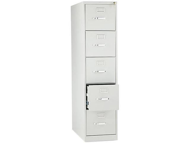 HON 215PQ 210 Series Five-Drawer, Full-Suspension File, Letter, 28-1/2d, Light Gray
