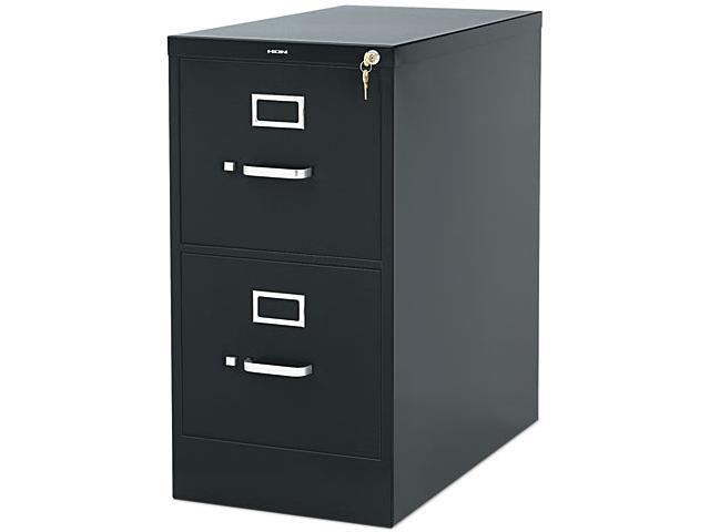 HON 312PS 310 Series Two-Drawer, Full-Suspension File, Letter, 26-1/2d, Charcoal