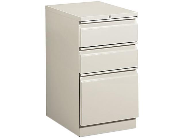 HON 33720RQ Efficiencies Mobile Pedestal File w/One File/Two Box Drwrs, 19-7/8d, Lt GY