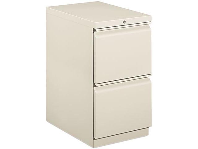 HON 33823RQ Efficiencies Mobile Pedestal File w/Two File Drawers, 22-7/8d, Light Gray
