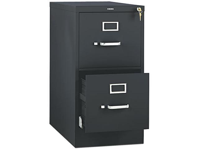 HON 512PP 510 Series Two-Drawer Full-Suspension File, Letter, 29h x25d, Black