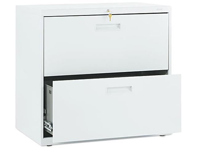 HON 572LQ 500 Series Two-Drawer Lateral File, 30w x28-3/8h x19-1/4d, Light Gray