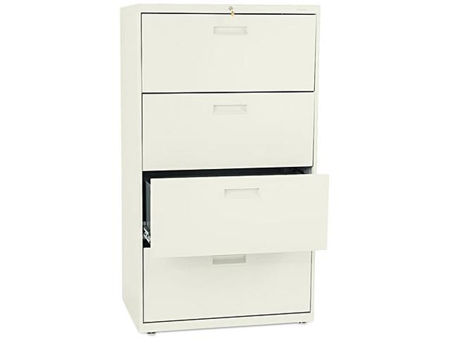 HON 574LL 500 Series Four-Drawer Lateral File, 30w x53-1/4h x19-1/4d, Putty