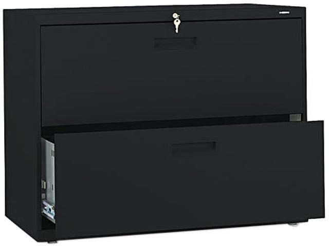 HON 582LP 500 Series Two-Drawer Lateral File, 36w x28-3/8h x19-1/4d, Black