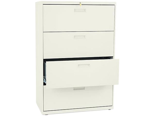 HON 584LL 500 Series Four-Drawer Lateral File, 36w x53-1/4h x19-1/4d, Putty