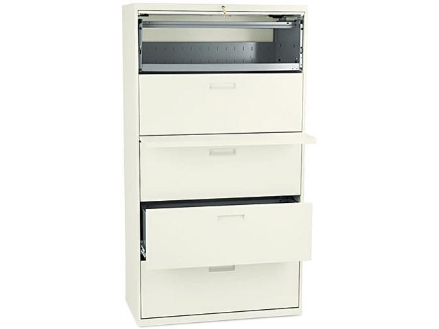 HON 585LL 500 Series Five-Drawer Lateral File, 36w x67h x19-1/4d, Putty