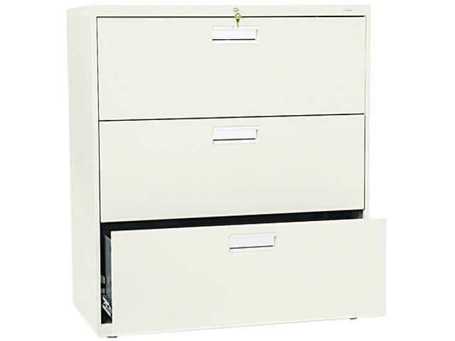 HON 683LL 600 Series Three-Drawer Lateral File, 36w x19-1/4d, Putty