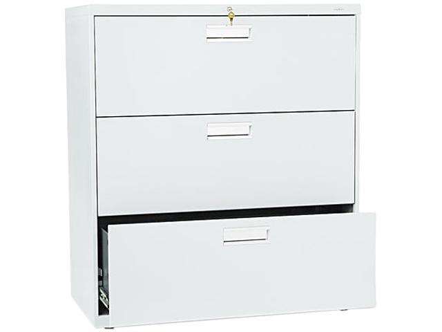 HON 683LQ 600 Series Three-Drawer Lateral File, 36w x19-1/4d, Light Gray