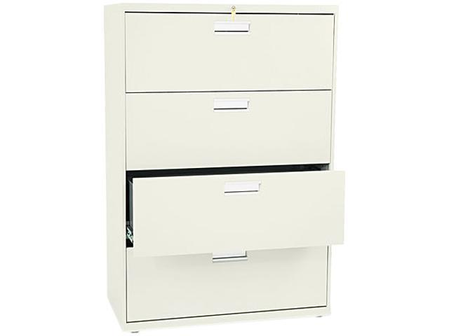 HON 684LL 600 Series Four-Drawer Lateral File, 36w x19-1/4d, Putty