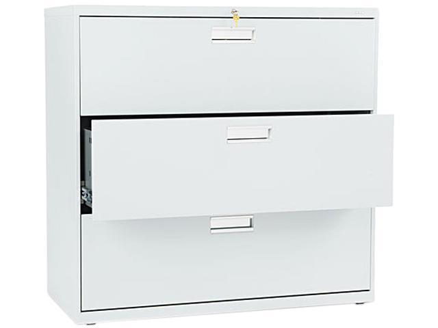 HON 693LQ 600 Series Three-Drawer Lateral File, 42w x19-1/4d, Light Gray