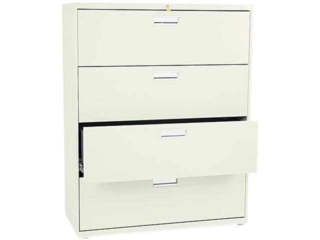 HON 694LL 600 Series Four-Drawer Lateral File, 42w x19-1/4d, Putty