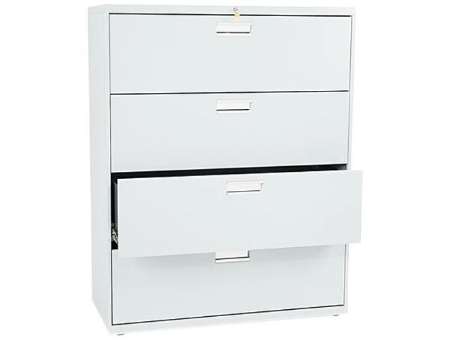 HON 694LQ 600 Series Four-Drawer Lateral File, 42w x19-1/4d, Light Gray