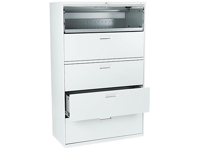 HON 695LQ 600 Series Five-Drawer Lateral File, 42w x19-1/4d, Light Gray