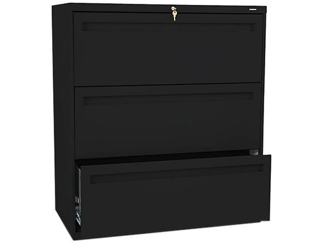HON 783LP 700 Series Three-Drawer Lateral File, 36w x 19-1/4d, Black