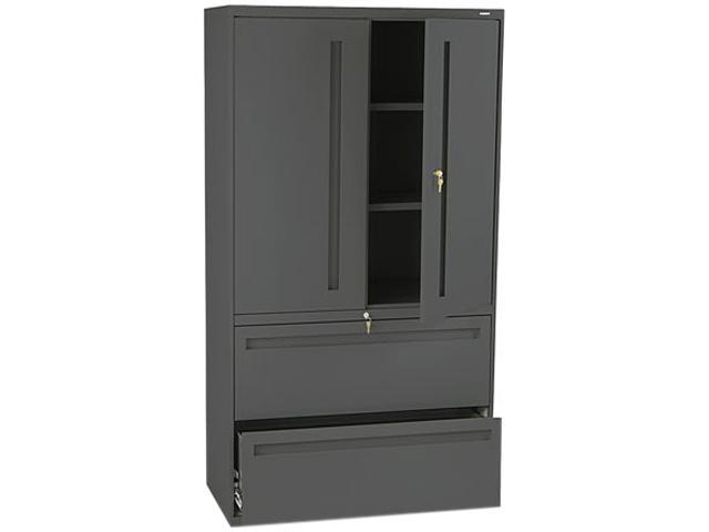 HON 785LSS 700 Series Lateral File w/Storage Cabinet, 36w x 19-1/4d, Charcoal