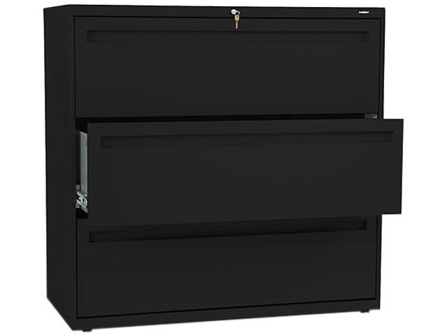 HON 793LP 700 Series Three-Drawer Lateral File, 42w x 19-1/4d, Black