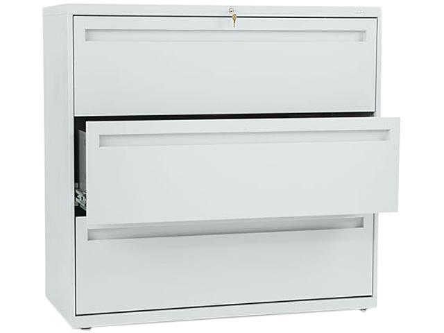 HON 793LQ 700 Series Three-Drawer Lateral File, 42w x 19-1/4d, Light Gray