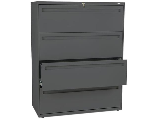 HON 794LS 700 Series Four-Drawer Lateral File, 42w x 19-1/4d, Charcoal