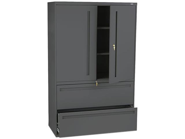 HON 795LSS 700 Series Lateral File w/Storage Cabinet, 42w x 19-1/4d, Charcoal