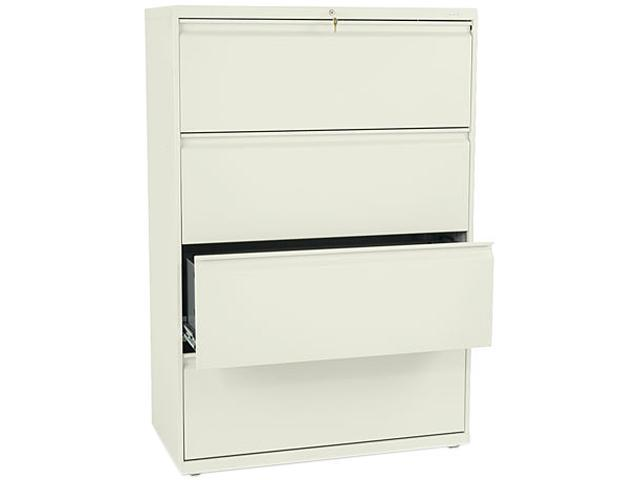 HON 884LL 800 Series Four-Drawer Lateral File, 36w x 19-1/4d x 53-1/4h, Putty