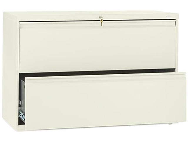 HON 892LL 800 Series Two-Drawer Lateral File, 42w x 19-1/4d x 28-3/8h, Putty
