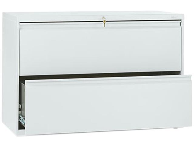 HON 892LQ 800 Series Two-Drawer Lateral File, 42w x 19-1/4d x 28-3/8h, Light Gray