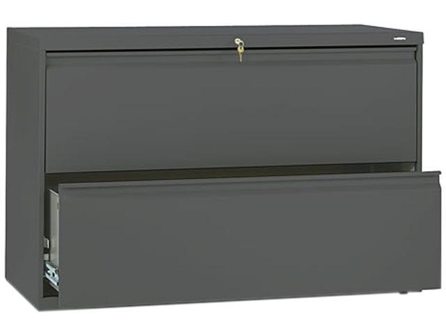 HON 892LS 800 Series Two-Drawer Lateral File, 42w x 19-1/4d x 28-3/8h, Charcoal