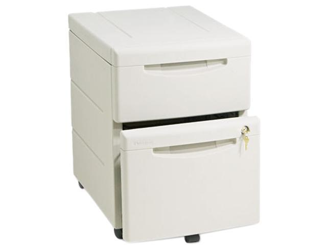 Iceberg 55219 WorkManager Mobile Underdesk Pedestal, Resin, 1 Box/1 File Drawers, Platinum