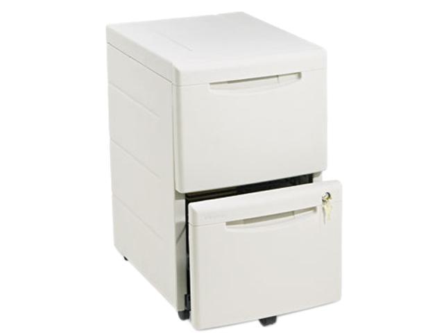 Iceberg 55419 WorkManager Mobile Desk Height Pedestal File, Resin, 2 File Drawers, Platinum