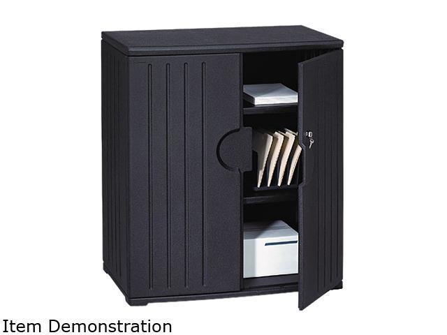 Iceberg 92561 OfficeWorks Resin Storage Cabinet, 36w x 22d x 46h, Black