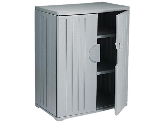 Iceberg 92562 OfficeWorks Resin Storage Cabinet, 36w x 22d x 46h, Charcoal