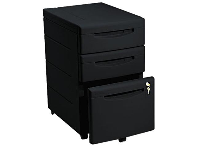 Iceberg 95211 Aspira Mobile Underdesk Pedestal File, Resin, 2 Box/1 File Drawers, Black