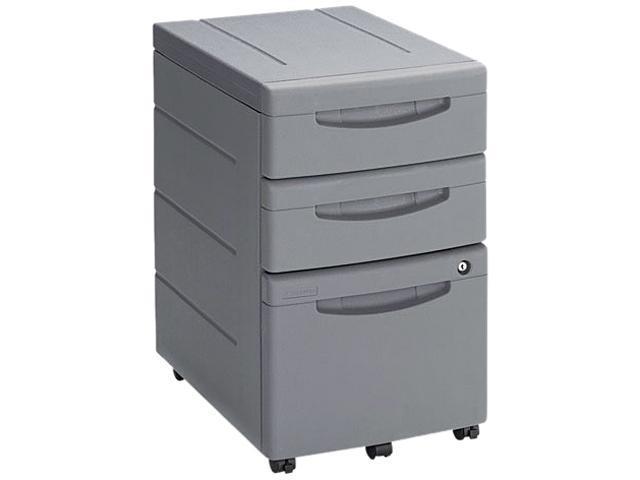 Iceberg 95212 Aspira Mobile Underdesk Pedestal File, Resin, 2 Box/1 File Drawers, Charcoal